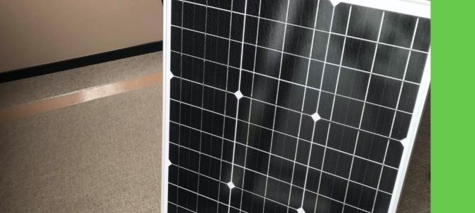 屋外でのIoT活用のためソーラーパネルを購入
